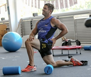 Matt Hodgson in Western Force Gym