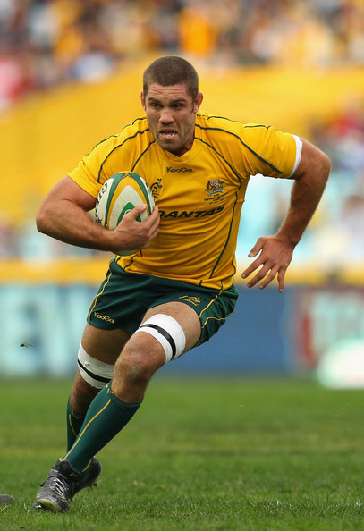 Matt Hodgson Running Ball Wallabies